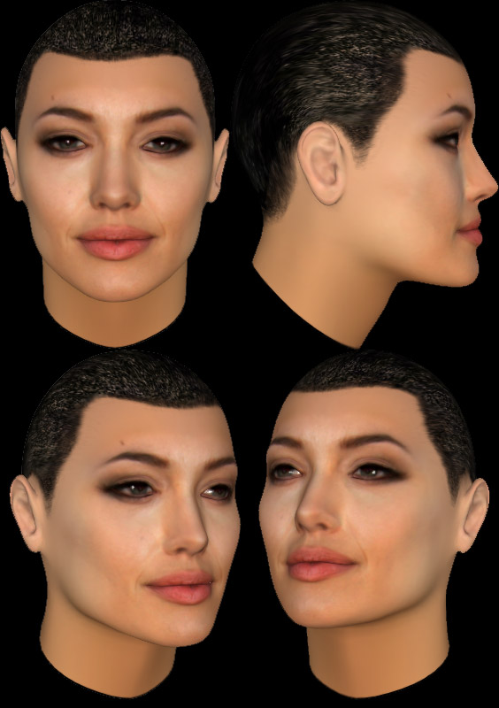 Angelina Jolie in 3d