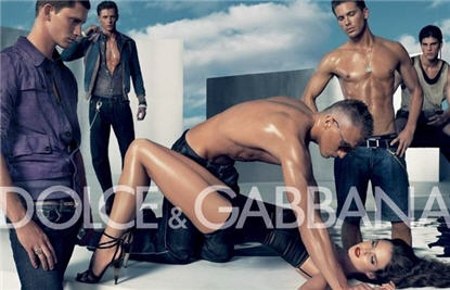 Dolce and Gabbana ad.