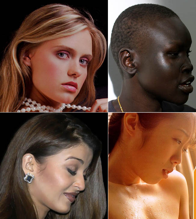Angel from beauty is divine, Alek Wek, Juri Hamaoka, Aishwarya Rai