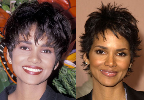 Halle Berry nose job.